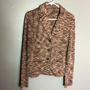 MISSONI Brown Silk Blazer Medium